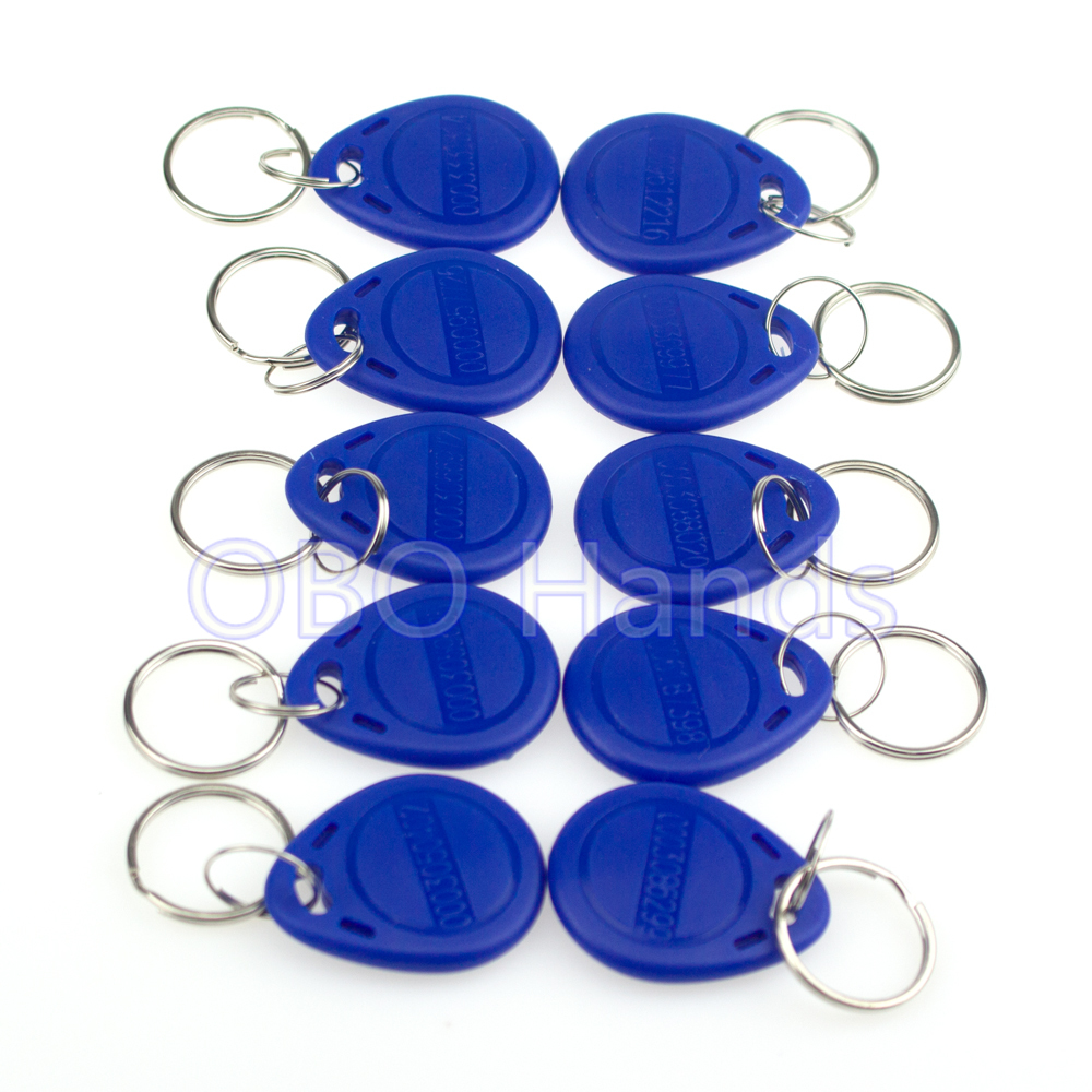 Read and Write T5577/EM4305 Rewritable 125KHz Blue color RFID Key Fob for Access Control System