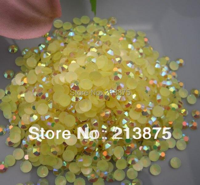 En gros grande quantité 100000 pièces Champagne couleur magique AB gelée 3mm résine strass téléphone Mobile bâton perceuse Nail Art SS12
