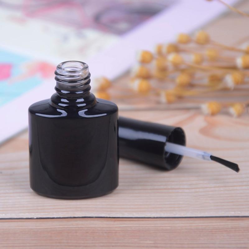 10ml Empty Nail Polish Bottle Container Black Glass With Agitator Mixing Balls Nail Polish контейнер