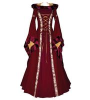 Vintage Renaissance Victorian Medieval Maid Dress Long Sleeve Gothic Brown Dress Medieval Dresses For Women Festive