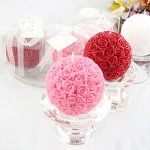 Силиконовая форма для свечей 3D шар розы ароматерапия форма для мыла, свечи ремесло Смола глина украшение инструмент