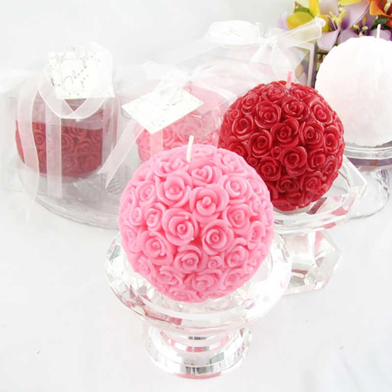Molde de vela de silicona 3D Bola de Rosa molde de jabón y vela de aromaterapia artesanal resina arcilla herramienta de decoración
