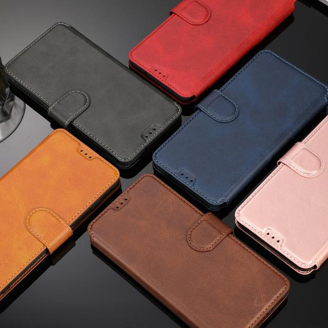 Funda para Samsung Galaxy S10 Plus Flip Phone Wallet funda para Samsung S10 Plus Funda de cuero Retro de silicona magnética caso