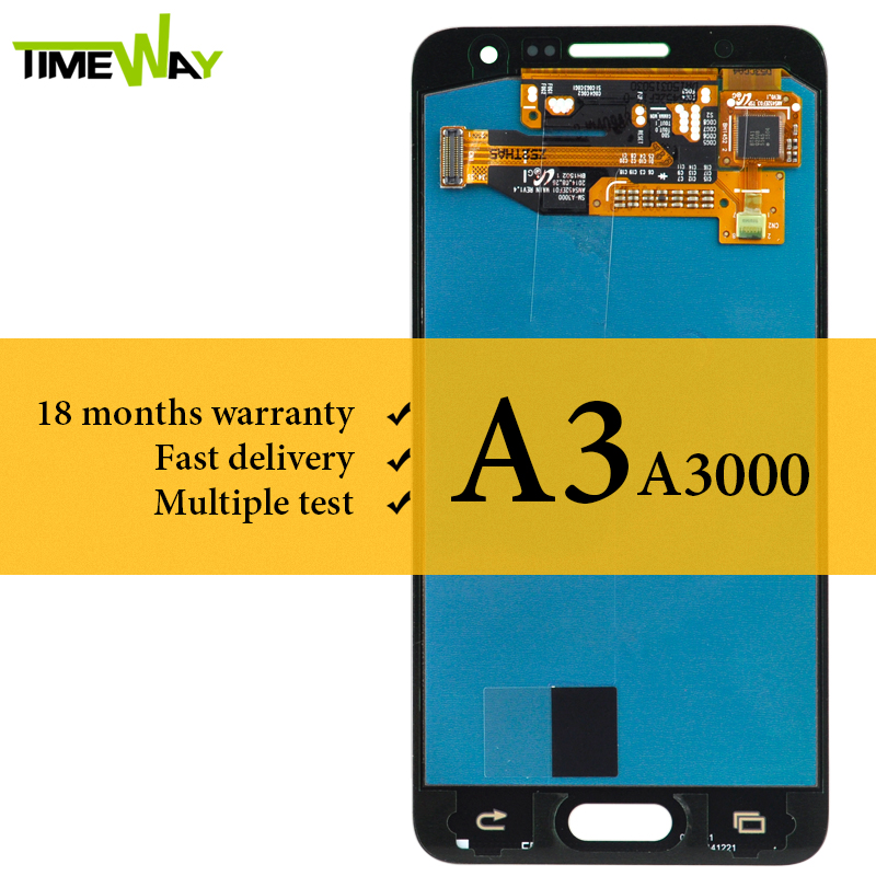 100% Tested For <font><b>Samsung</b></font> A3 <font><b>A300</b></font> <font><b>LCD</b></font> Display No Spot With Digitizer Touch Screen AMOLED Assembly For <font><b>Samsung</b></font> A3 <font><b>LCD</b></font> image