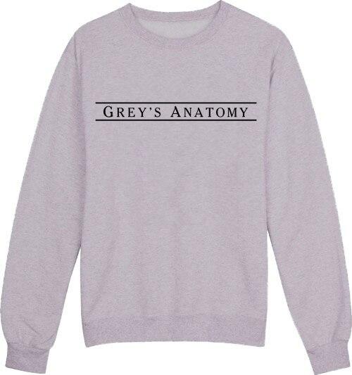 Anatomía de grey crewneck sudaderas mujeres moda Jumper outfits Tops ...