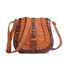 618 new summer women's Shoulder Bags PU Weaving Small package Retro Mini Messenger bag Handle Crossbody