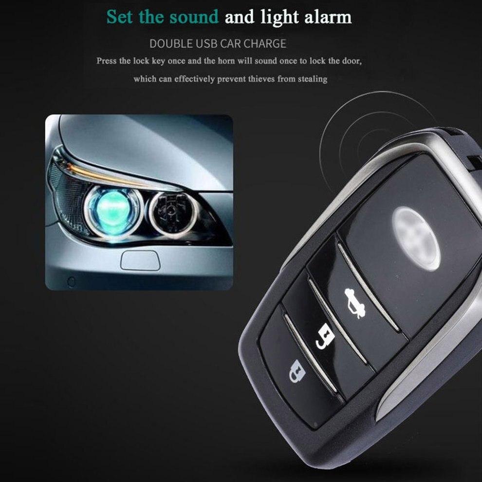 Partol Smart Key PKE alarme de voiture passif sans clé système de voiture démarrage moteur arrêt bouton poussoir démarreur à distance capteur de choc X5 - 3