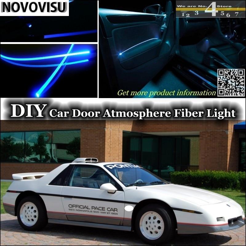 NOVOVISU For Pontiac Fiero interior Ambient Light Atmosphere Fiber Optic Band Lights Inside Door Panel illumination