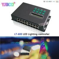 Ltech الصمام تحكم LT-600 الإضاءة نظام مراقبة مستوى الانترنت/حاليا/wifi/dmx/spi sd بطاقة القيادة المرحلية ws2811 lpd6803 الخ