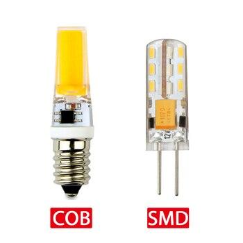 цена на G4 G9 Lamp Bulb AC/DC Dimming 12V 220V 1.5W 2W 3W COB SMD LED Lights replace Halogen Mini LED 2835 3014 Spotlight Chandeli