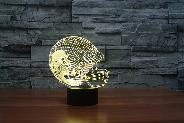 Cleveland Brown American football teamlogo on helmetSLong 3D led Light7