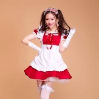 Anime Role Playing Cartoon Akihabara Lolita Princess Apron Dress Maid Outfits Meidofuku Uniform Cosplay Costume