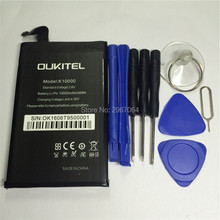 Mobile phone battery OUKITEL K10000 battery 10000mAh Original battery Mobile Accessories OUKITEL phone battery +Disassemble tool