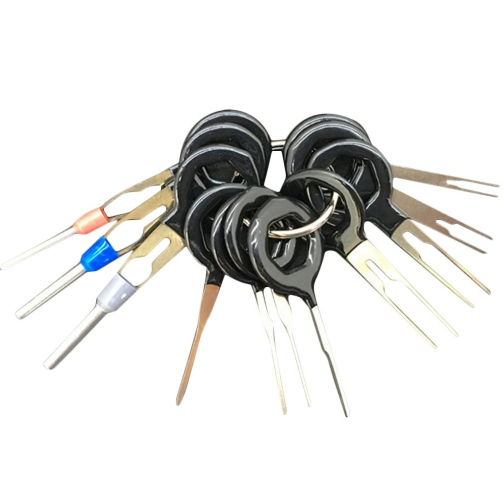 Automotive Repair Wiring Harness Pins Library Pin Adapters 11pcs Set Auto Car Plug Terminal Extraction Pick Back Needle Wire Connector Crimp