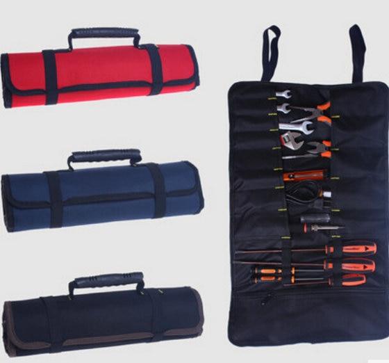 1 Stück Neue Hohe Qualität Oxford Leinwand Rolle Rolle Lagerung Werkzeugtasche Tasche Toolkit Freies Verschiffen Mit Bahnzahl 12001569 GläNzend