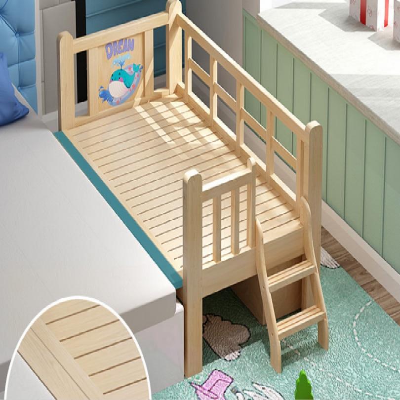 Деревянная детская кровать с подсветкой для малышей, детская кровать для спальни, детская мебель, детская кровать 128*68*40 см, бесплатная доставка