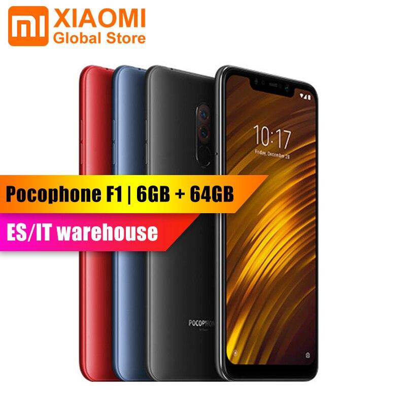 Version mondiale-Xiaomi POCOPHONE F1 POCO F1 6 GB RAM 64 GB ROM Snapdragon 845 45 6.18
