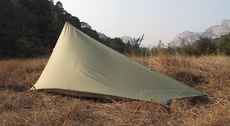 AXEMEN negro Hawk ultraligero doble capa 1 2 personas montaña hilado inalámbrico tienda de Camping al aire libre - 3