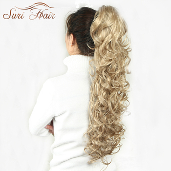 Suri Hair Women HairPiece Ponytail Wavy Claw Fake Extensions 32 inch 220g Black/Blonde 7 Colors Avaliable
