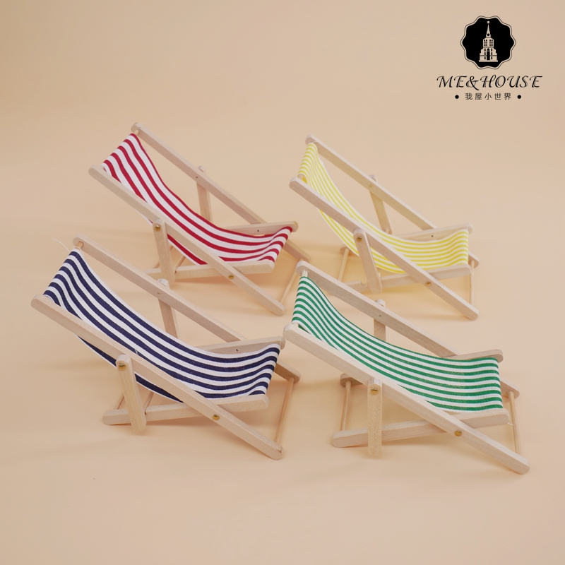 Miniature Patio Furniture 1:12 Dollhouse Miniature Hammock with Stand