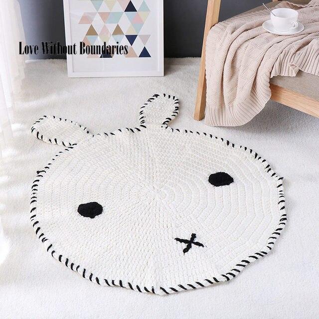 New Häkeln Runde Teppiche Teppiche für Kinder Wohnzimmer Tier Bär ...