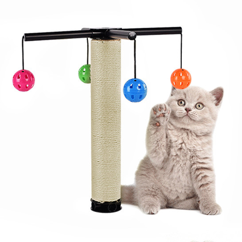 Cat Toys Cat Claw Toys with Bells ball multifunctional free install Exercise the body training the sensitivity of the cat