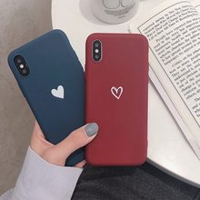 For Honor 8X Case Love Heart Print Back Cover For Huawei Honor Play 9 8 Lite 10 enjoy 8 Plus 7S Retro Lovely Matte Soft TPU Case(China)