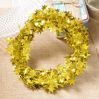 7meters of wire five pointed star Lahua color DIY ribbon ornaments Christmas decorations