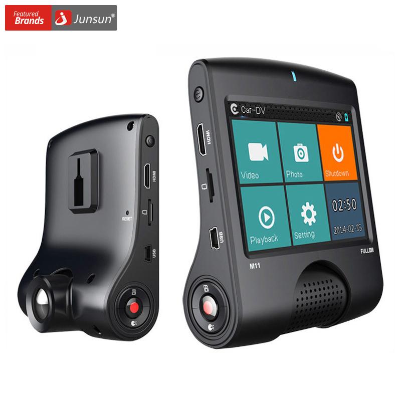 Prix pour Junsun Voiture DVR Caméra Ambarella A7 Full HD 1080 P 30 FPS GPS Logger Enregistreur Vidéo de Vision Nocturne de voiture dvr Dash Cam
