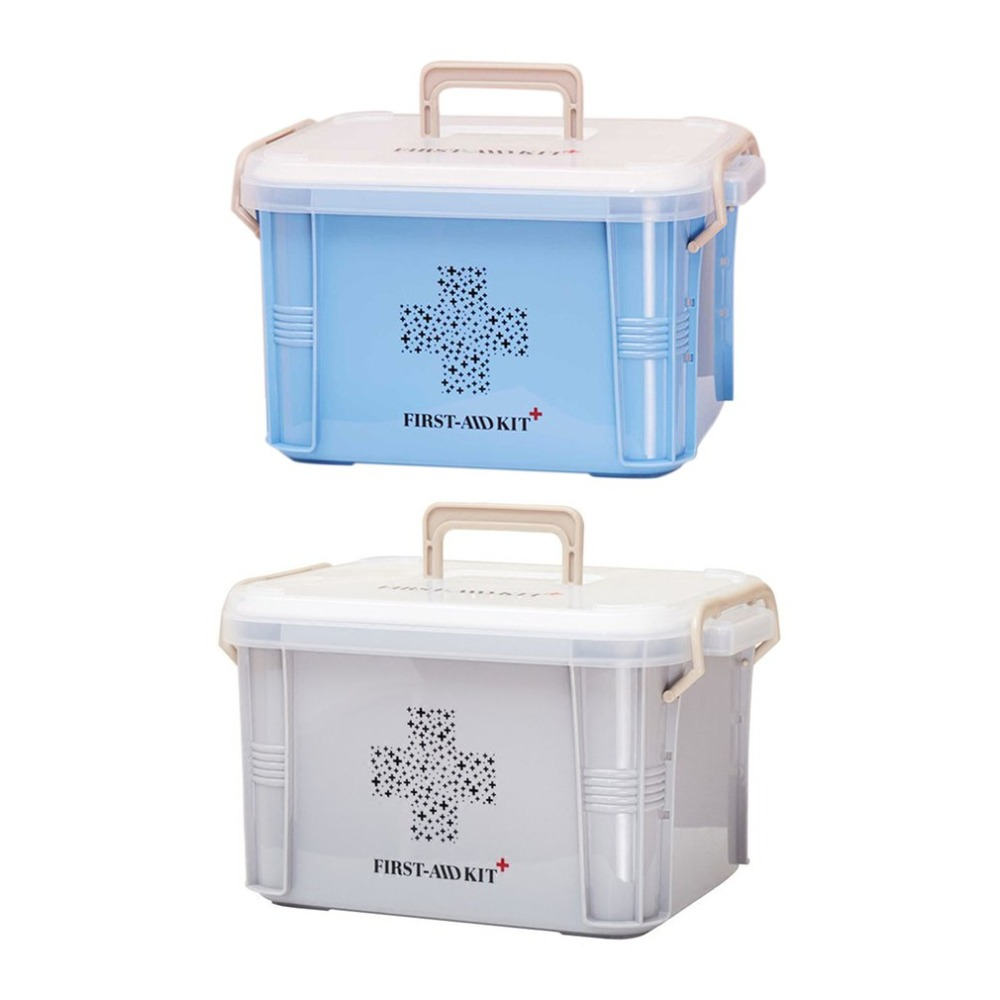 Practical Design Home Use Medicine Box First Aid Kit Box Plastic Container  Emergency Kit Portable Storage Organizer Dropshipping
