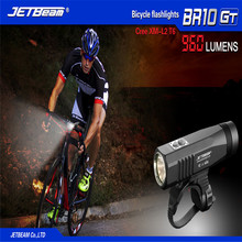 Bicycle light for Cycling Bicycle front LED Rechargeable Bike Light Flashlight + battery Bike accessories a bike Free shipping