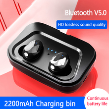 TWS Wireless Earphones Waterproof 5.0 Bluetooth Earbuds Mini Invisible Wireless Stereo Earphone with Microphone for Phone все цены