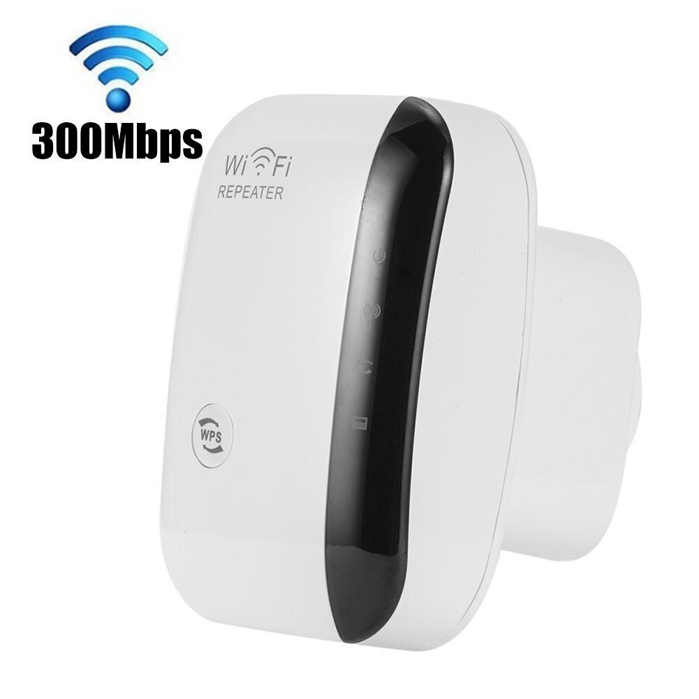 US/EU/UK Plug Socket 300Mbps Wireless WiFi Router AP Repeater WLAN Extender