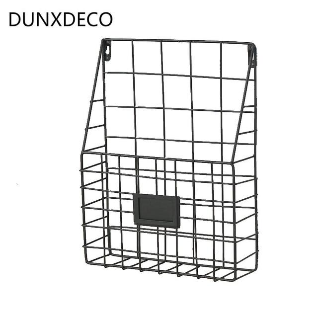 Dunxdeco Hause Buro Lagerung Wand Hangen Regal Eisen Korb Magazin