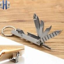 цена на 12-in-1 Multi-function Screwdriver Keychain Screwdriver Tool Nail File Mobile Phone Holder Mini Knife