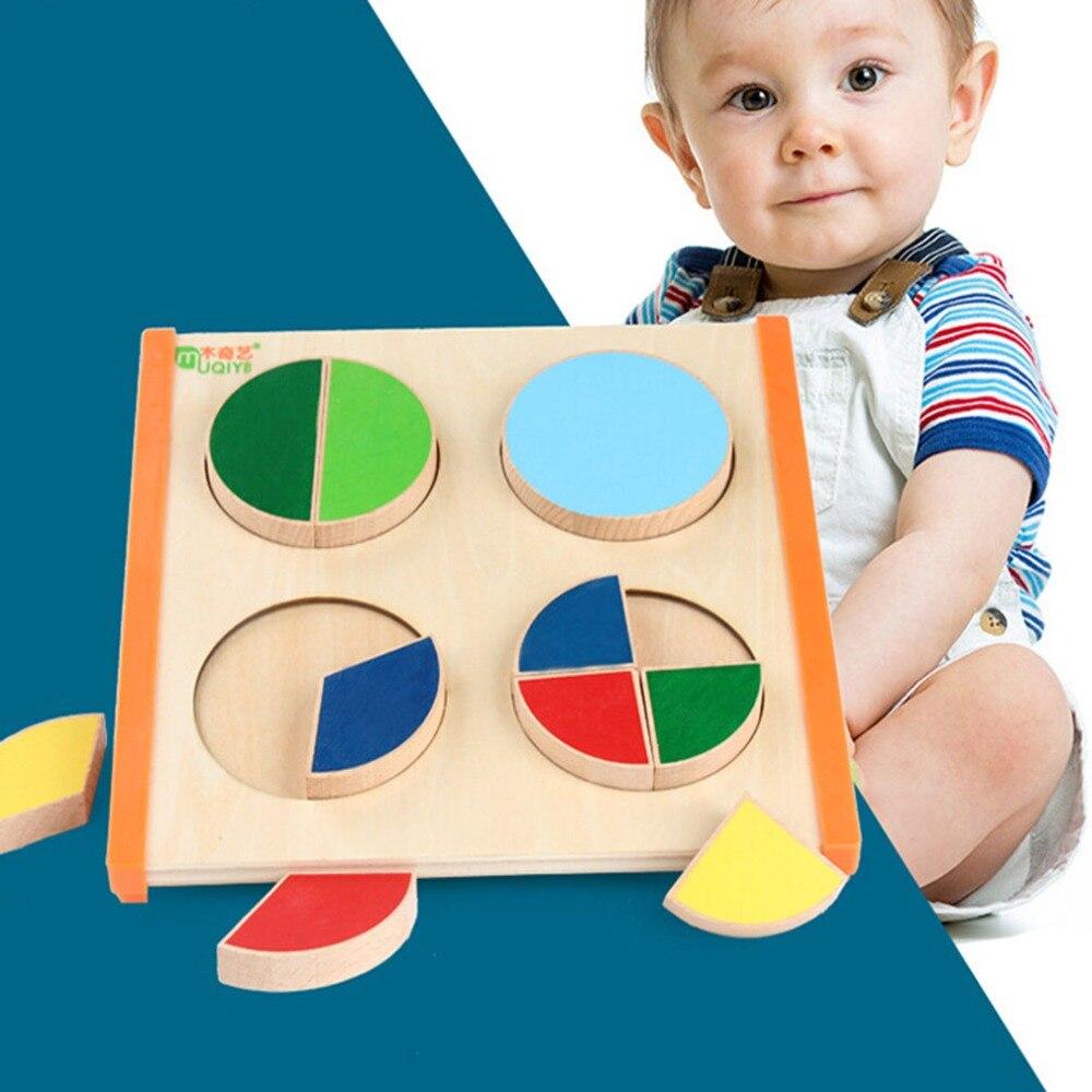Circle Shape Baby Early Learning Wood Mathematical ...