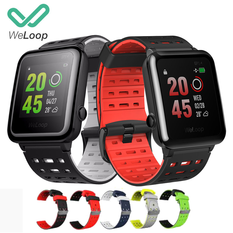 English Version WeLoop Hey 3S Sport Watch Multi sports GPS Smart Watch Heart Rate Monitor BT4.0 50M Water Resistant Message Push