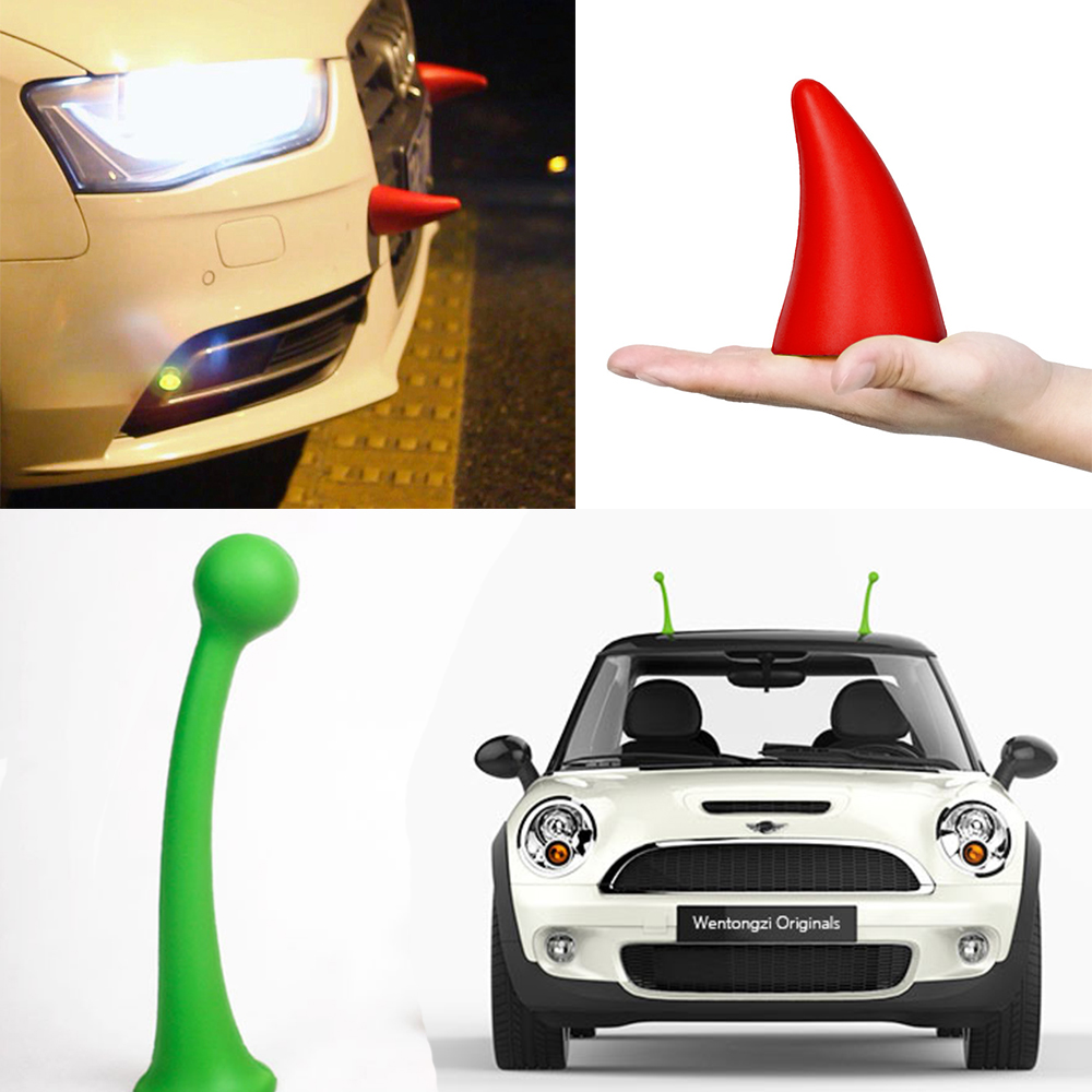 3D Personality Car Body Sticker Car styling Accessories Anti collision Devil Antennae font b Parking b