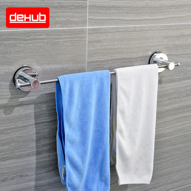 dehub suction cup stainless towel bar 53cm single towel bars bathroom shelf bathroom accessories. Black Bedroom Furniture Sets. Home Design Ideas