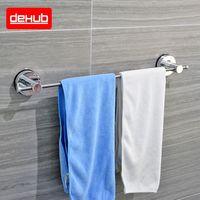 Dehub Suction Cup Stainless Towel Bar 53cm Single Towel Bars Bathroom Shelf Bathroom Accessories Simple Towel