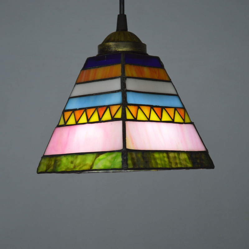 Tiffany Pendant Light Stained Glass Spanish Style Dining Room Decoration Lighting E27 110 240V