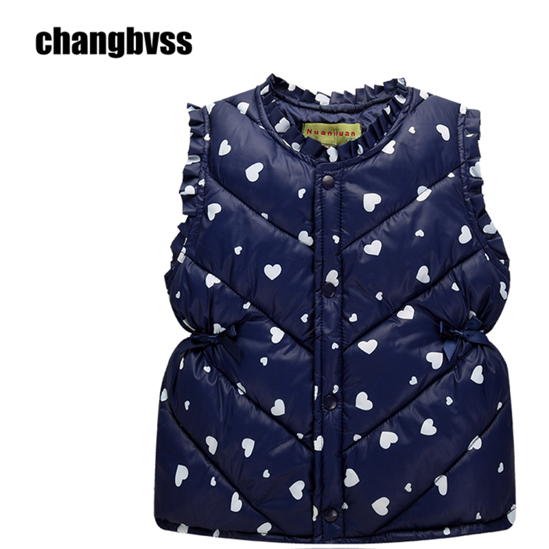 Multi-color Children's Clothing winter Outerwear Coats for Girl and Boys, Cute Baby Vest Kids Warm Jacket Vest Free Shipping