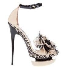 Женская обувь высокого качества босоножки на тонком каблуке летние модные женские босоножки на платформе с геометрическим принтом и украшением в виде цветов на высоком каблуке