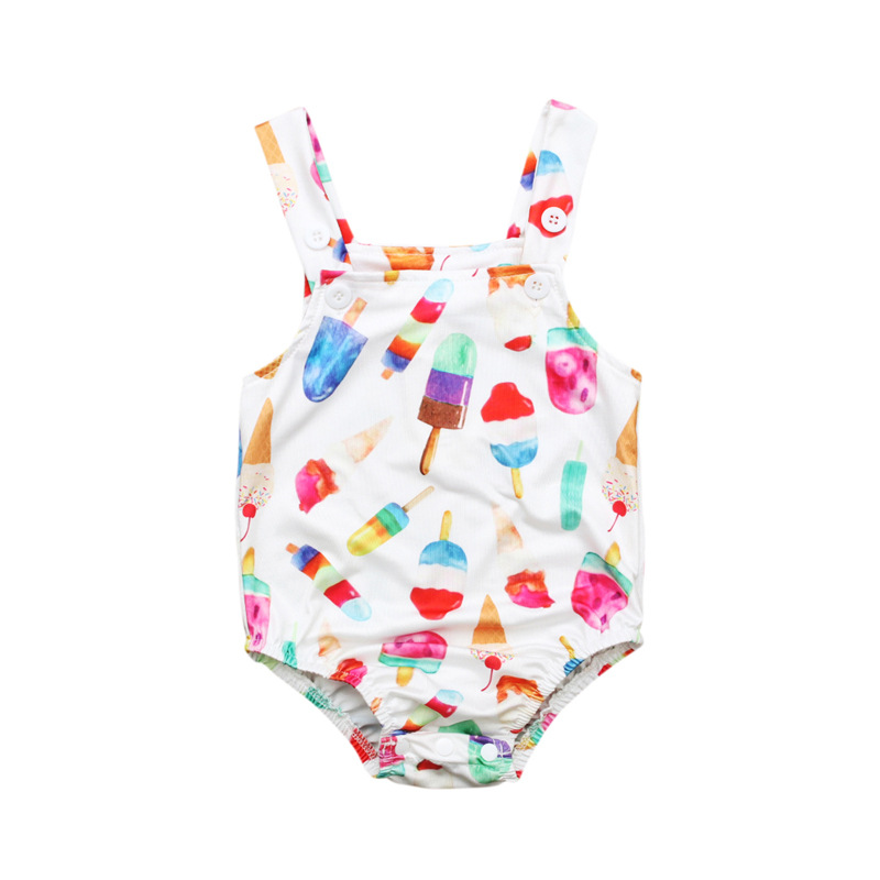Ragazza Dei Bambini Sleeveless Della Maglia Costumi Da Bagno Modello Gelato Vestito Di Nuoto Di Modo Fj88 Superficie Lucente
