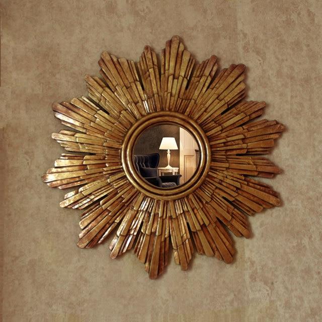 Specchi Decorativi Da Parete.Dia57cm Specchi Decorativi Da Parete In Stile Europeo Sole Specchi