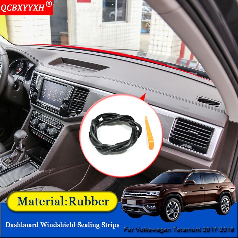 Car-styling Car Anti-Noise Soundproof Dustproof Car Dashboard Windshield Sealing Strips For Volkswagen Atlas Teramont 2017 2018
