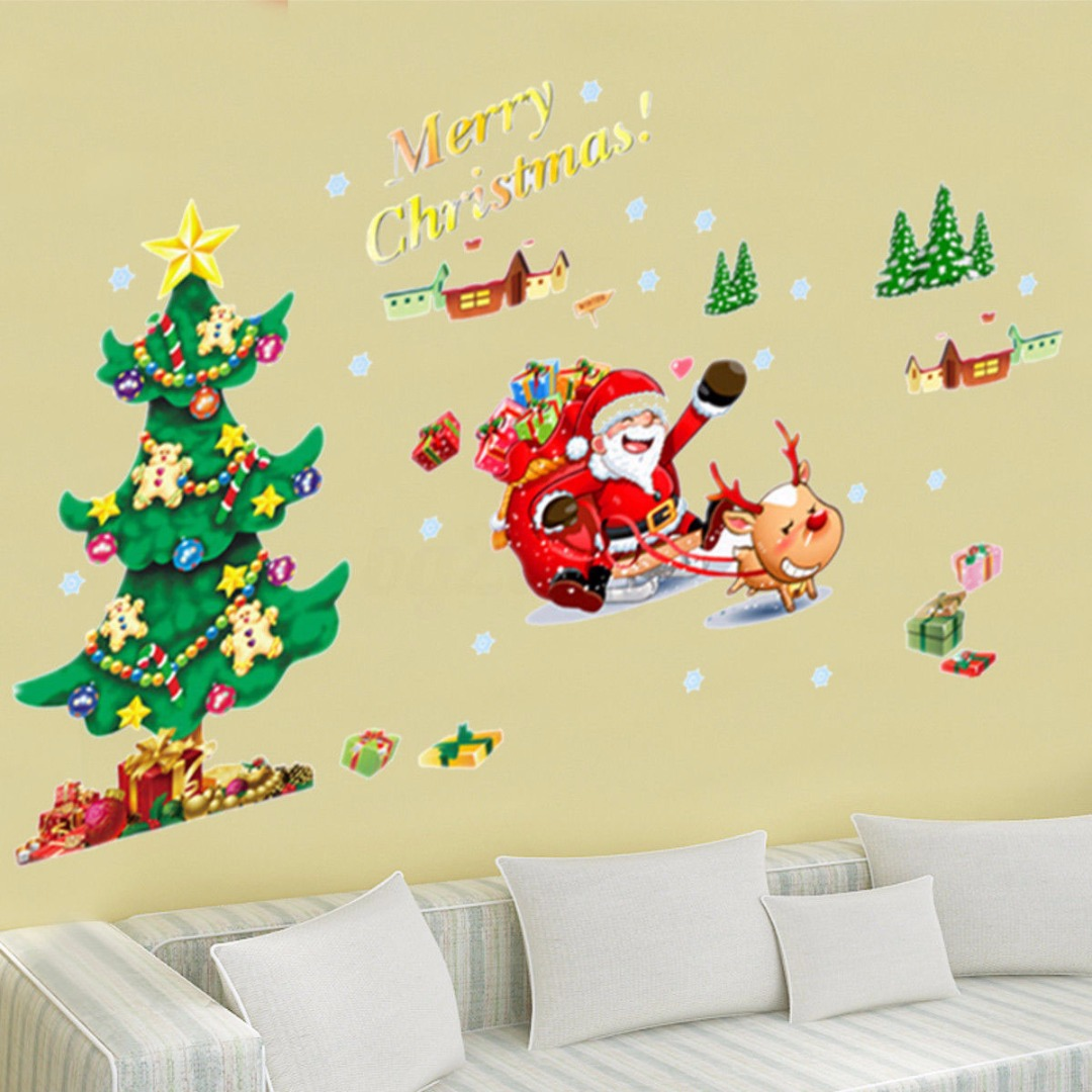 Attractive Wall Xmas Decorations Vignette - Wall Art Collections ...