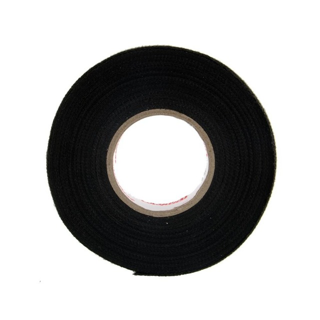 Hot 1x Adhesive 19mmx15M Cloth Fabric Tape Cable Looms Wiring Harness For Car