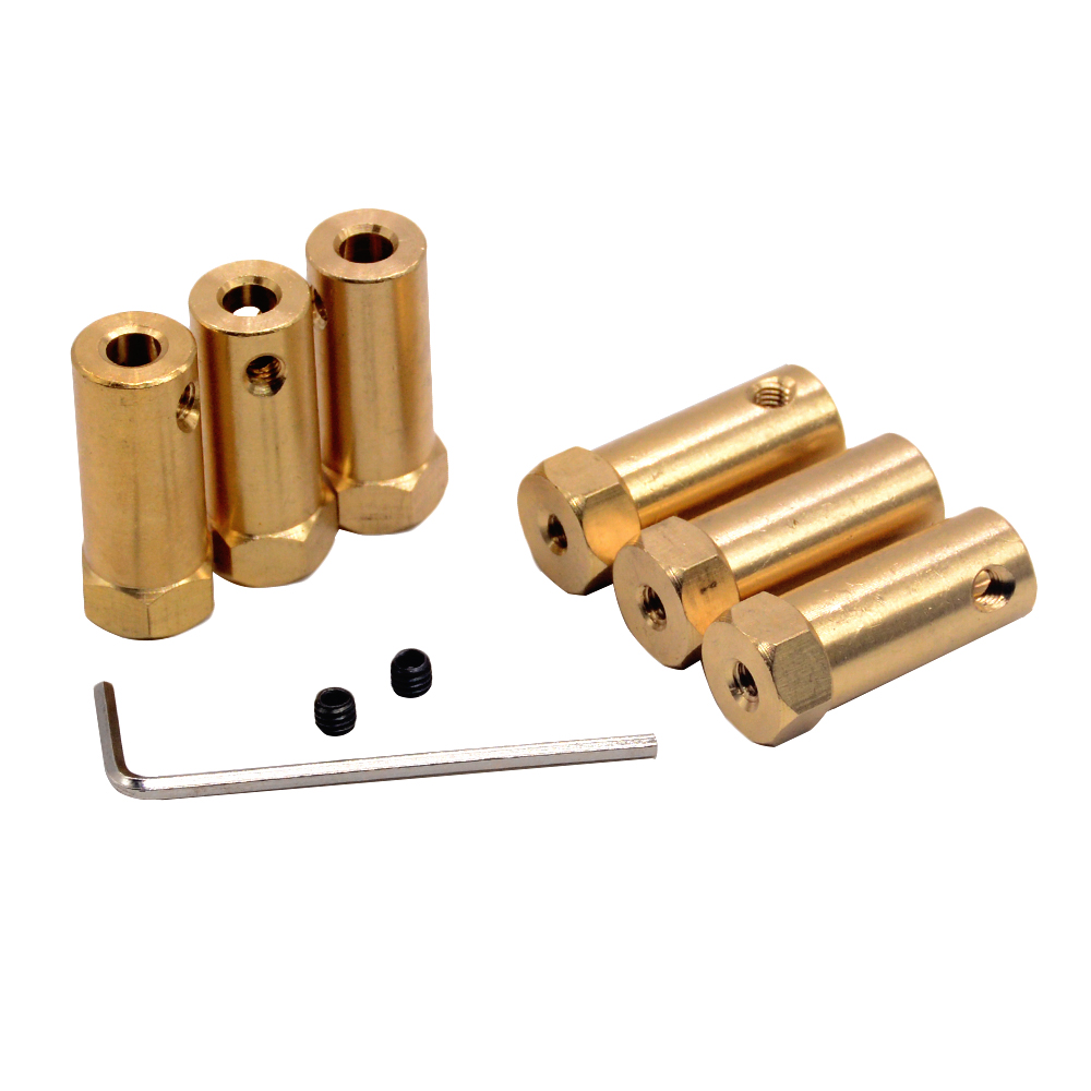 10pc Hexagonal Brass Coupling length 30mm Hex Connector Robot Accessories Shaft 3mm 4mm 5mm 6mm 7mm 8mmYellow Copper Screw Wheel10pc Hexagonal Brass Coupling length 30mm Hex Connector Robot Accessories Shaft 3mm 4mm 5mm 6mm 7mm 8mmYellow Copper Screw Wheel