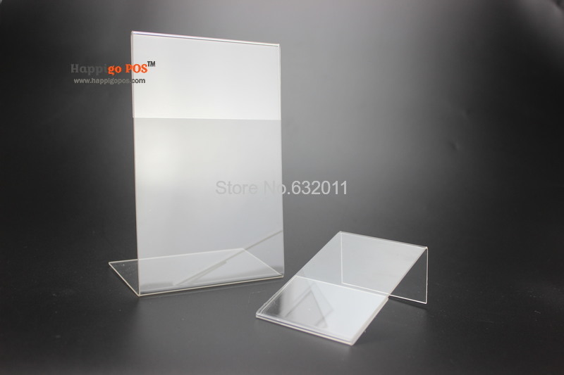 acrylic a4 plastic sign display paper promotion card table label holder l stand desktop sign label